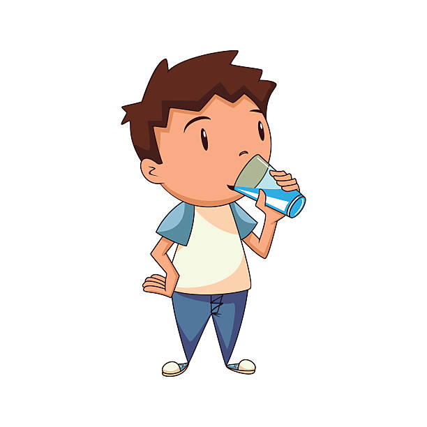 612x612 Collection Of Kids Drinking Water Clipart High Quality, Free
