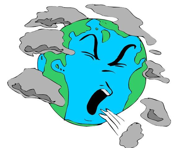 564x479 Polluted Earth Clipart