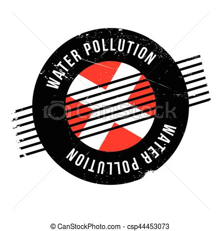 450x470 Water Pollution Rubber Stamp. Grunge Design With Dust Vectors