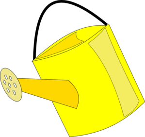 299x282 Empty Yellow Watering Can Clip Art