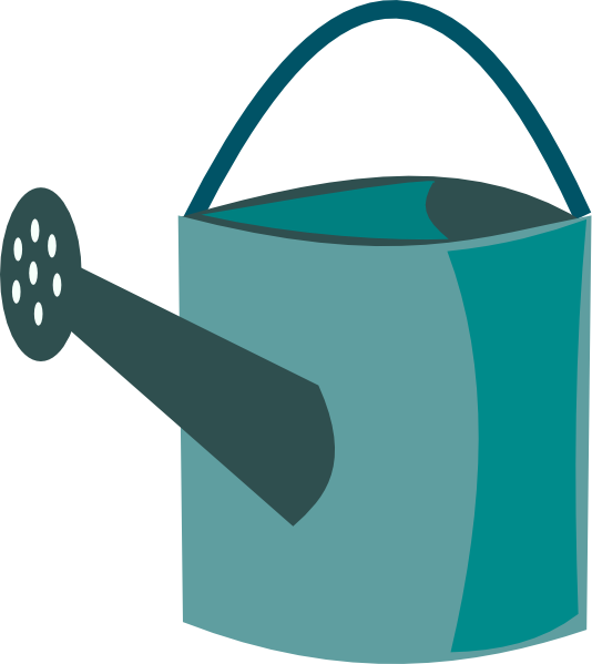 534x599 Green Watering Can Clip Art