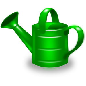 300x300 Watering Can Vector Image. Color
