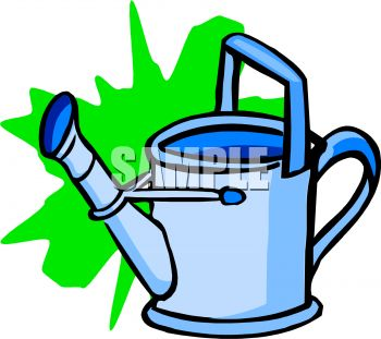 350x311 Royalty Free Clip Art Image A Metal Watering Can