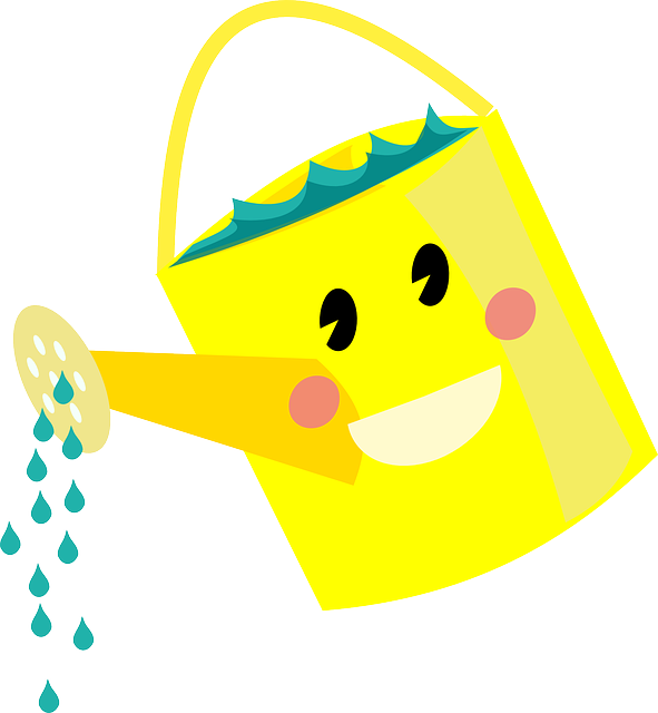 591x640 Watering Can Clipart Water Plant