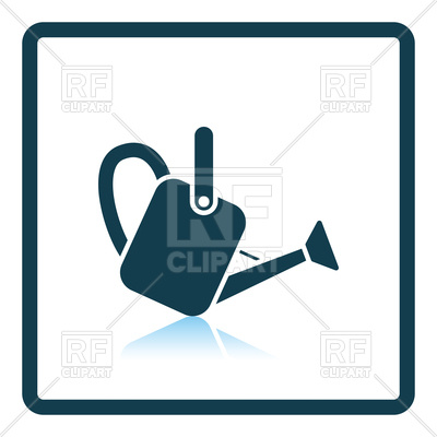 400x400 Watering Can Icon On White Background Royalty Free Vector Clip Art