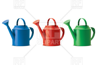 400x267 Watering Cans Set Royalty Free Vector Clip Art Image