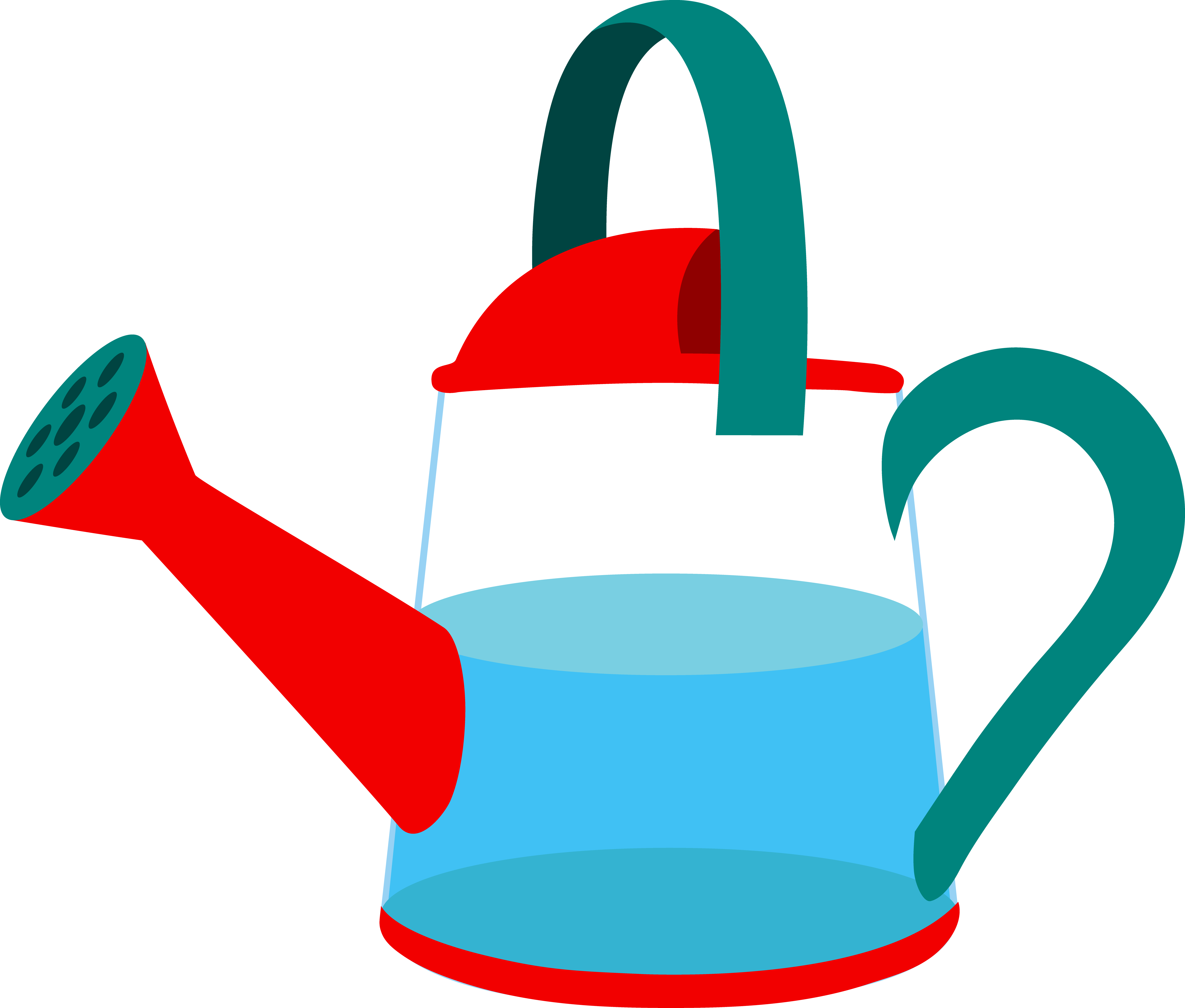 5760x4901 Beautiful Of Watering Can Pouring Water Clipart Letters Format