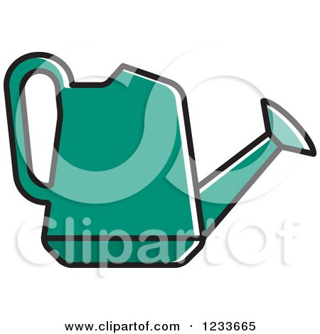 450x470 Clipart Of A Black And White Watering Can