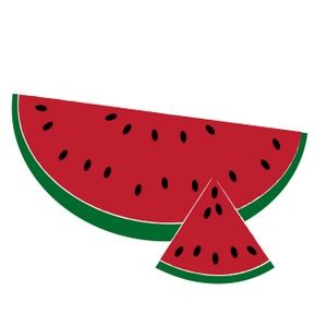 300x300 Summer Clip Art Watermelon Clipart Image A Sliced Summer