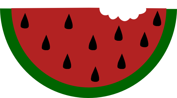 600x334 Watermelon With Bite Clip Art