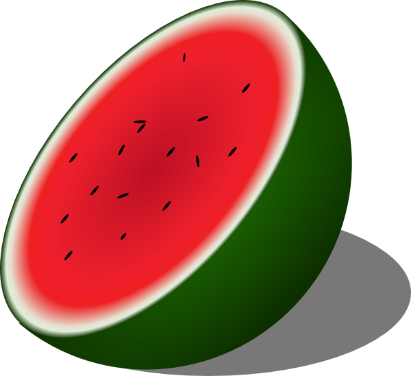 600x549 Watermelon Clip Art Free Vector 4vector