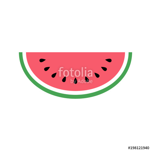 500x500 Watermelon Icon, Simple Design, Watermelon Icon Clip Art. Clipart