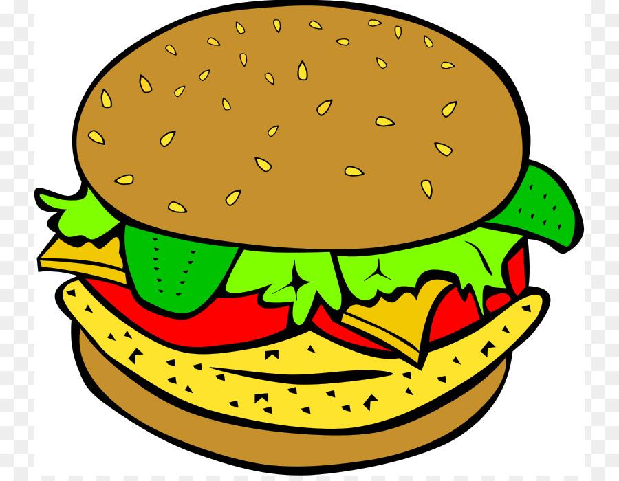 900x700 Hamburger Cheeseburger Chicken Sandwich Veggie Burger Clip Art