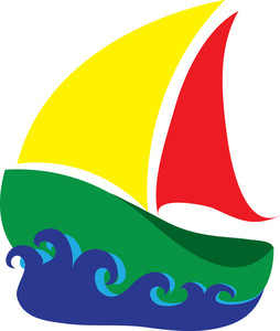 254x300 Colorful Boat Clipart