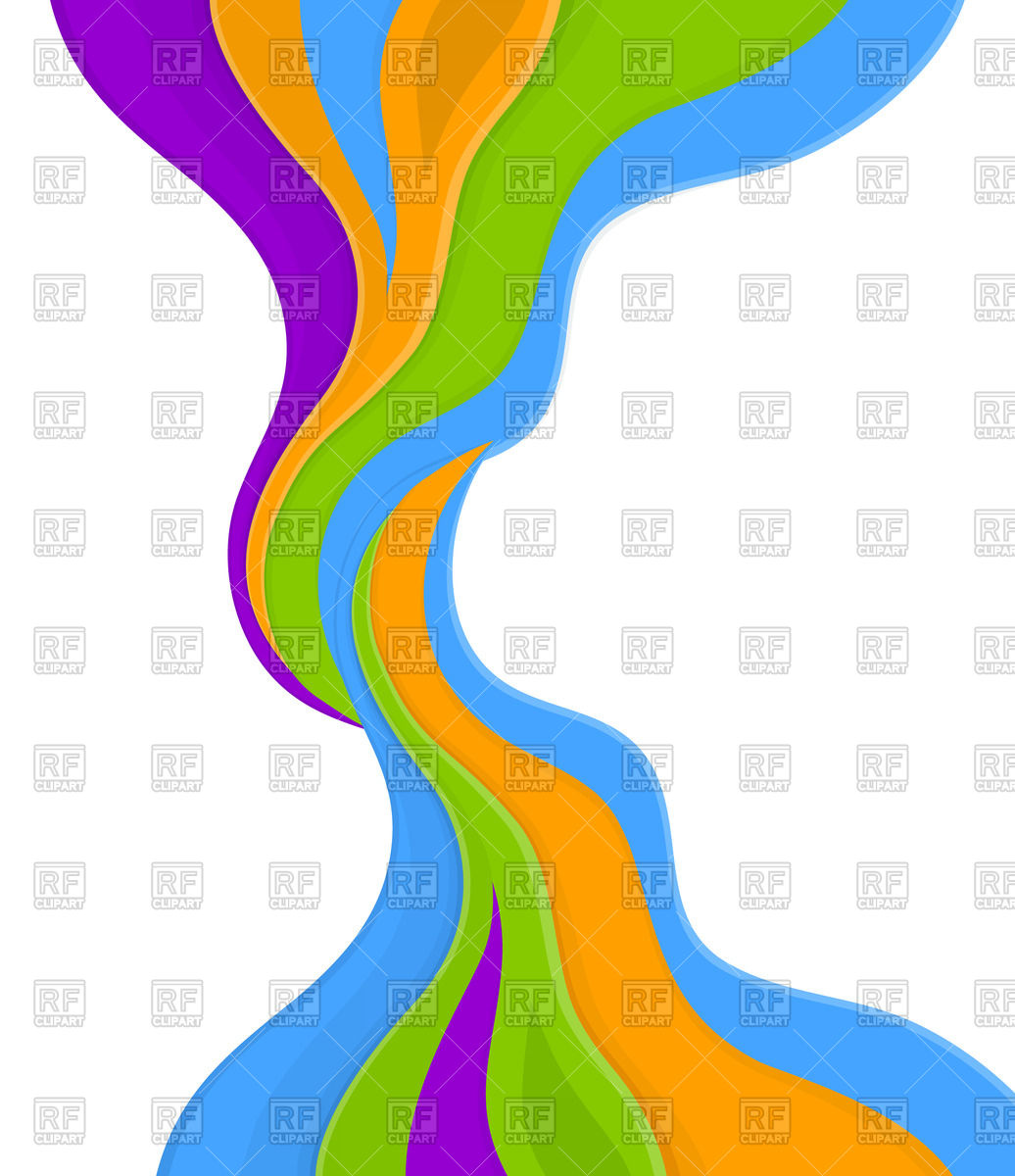 1036x1200 Abstract Colorful Waves Royalty Free Vector Clip Art Image