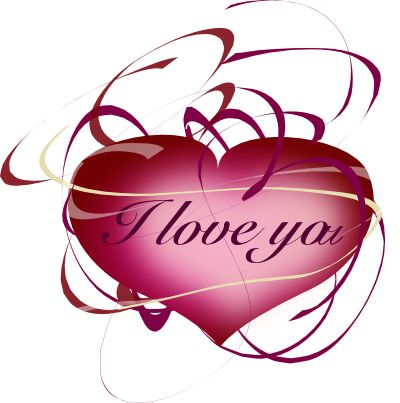 400x403 I Love You Heart Clipart Collection