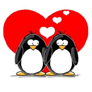 300x300 Penguin Clipart I Love You 3778282