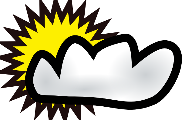 600x396 Sunny Clip Art Sunny Partly Cloudy Weather Clip Art Free Vector