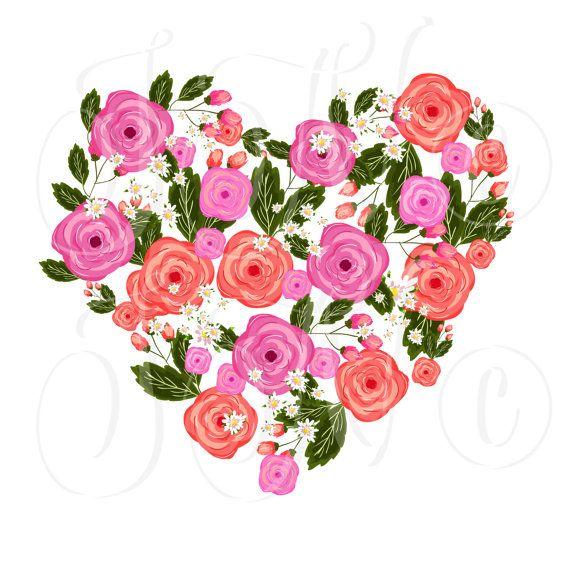 570x570 66 Unique Wedding Floral Clipart, Digital Wreath, Frames, Flowers