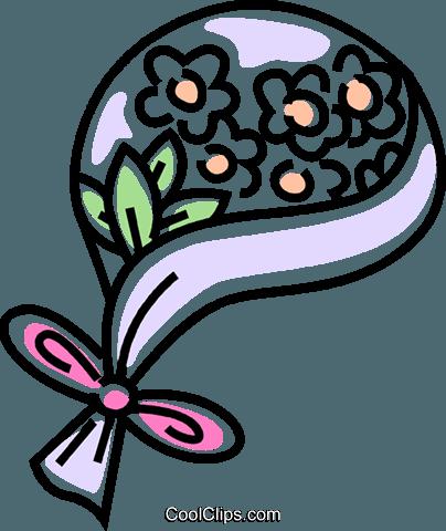 404x480 Wedding Bouquet Royalty Free Vector Clip Art Illustration
