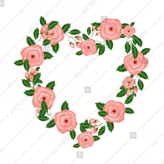 540x540 Wedding Graphic Clip Art Set, Wreath, Flowers, Arrows, Hearts