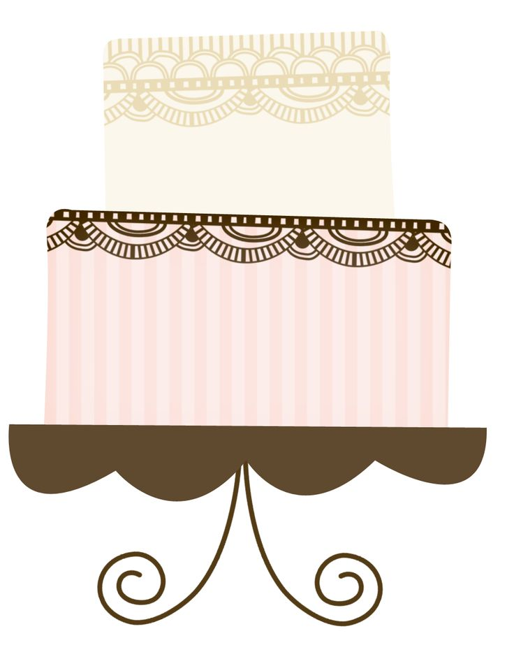 736x953 Image Of Wedding Cake Clipart