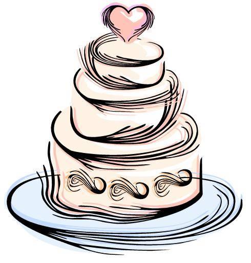 490x514 Modern Wedding Cake Clipart Clipart Panda