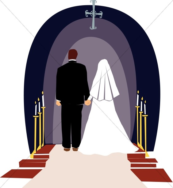 564x612 Incredible Christian Marriage Clipart Religious Wedding Ceremony