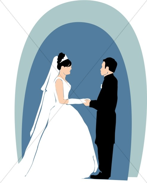 494x612 Christian Wedding Couple Clipart