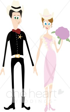243x388 Country Wedding Couple Clipart Western Wedding Clipart