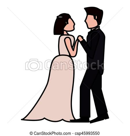 450x470 Couple Wedding Love Image Vector Iillustration Eps 10 Clipart