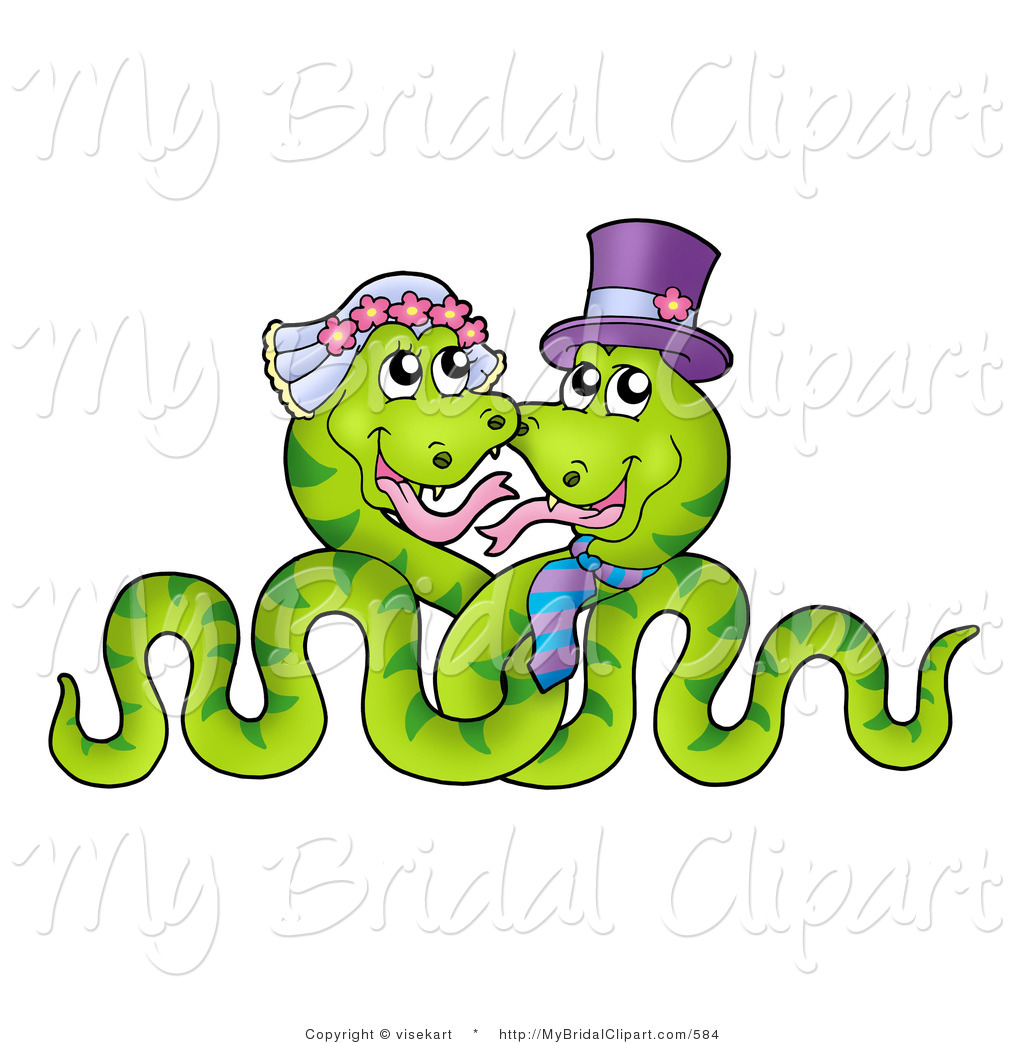 1024x1044 Bridal Clipart Of A Snake Wedding Couple Entwined By Visekart