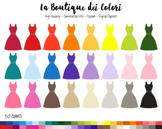 570x453 50 Evening Dress Clipart, Digital Illustrations Png, Long Wedding
