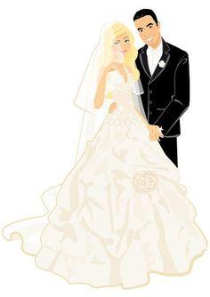 236x334 Wedding Clip Art Bride And Groom Have A Look