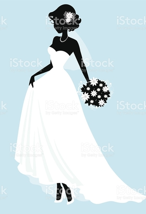 300x440 Wedding Dress Silhouette Free Clipart Free Clip Art Images