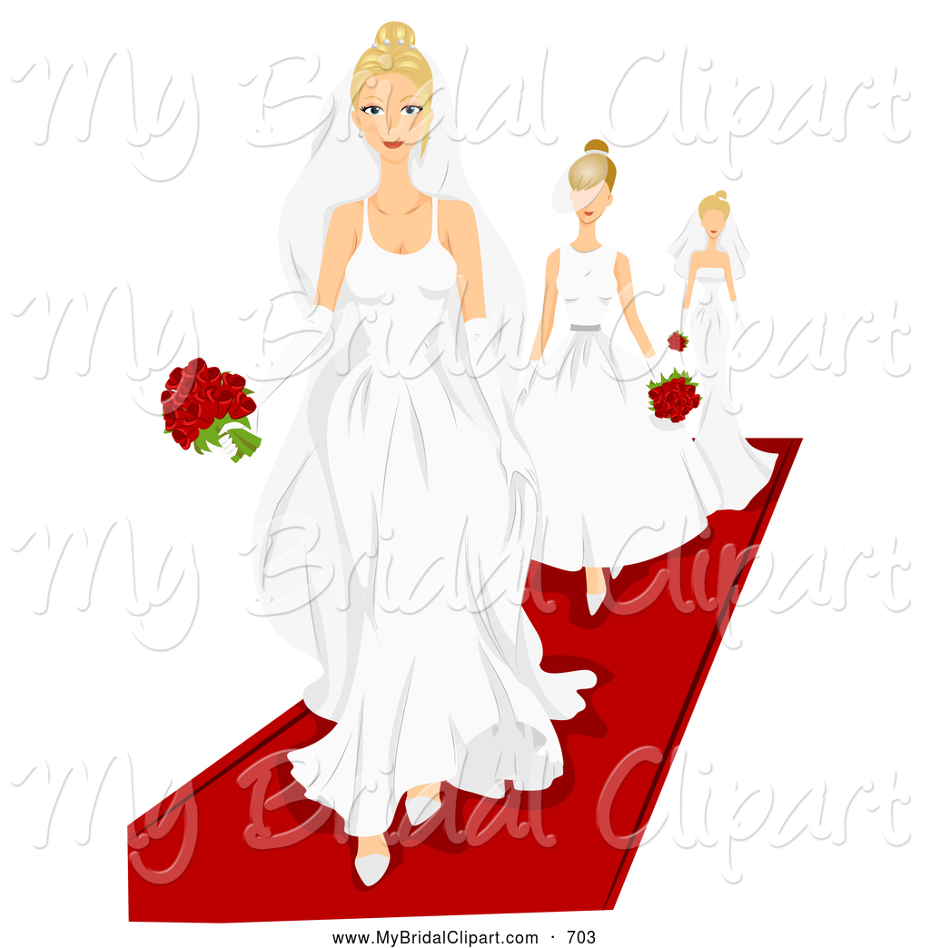 1024x1044 Bridal Clipart Of A Trio Of Models Walking On A Red Carpet