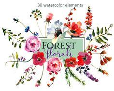 236x188 Purple Watercolor Flowers Clipart Set Wedding Floral Bouquets