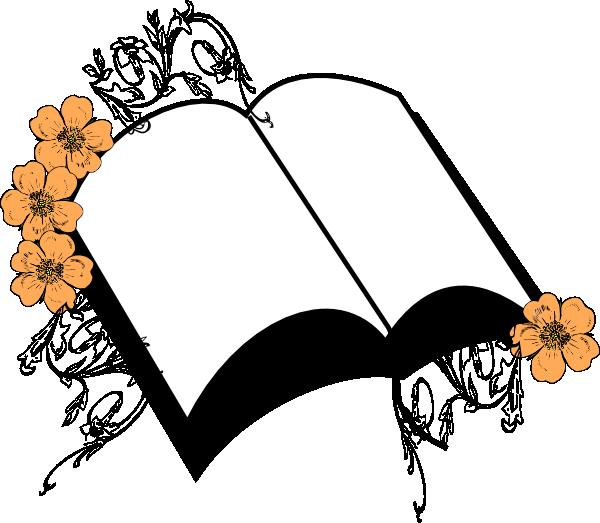 600x523 Wedding Peach Flower Bible Clip Art