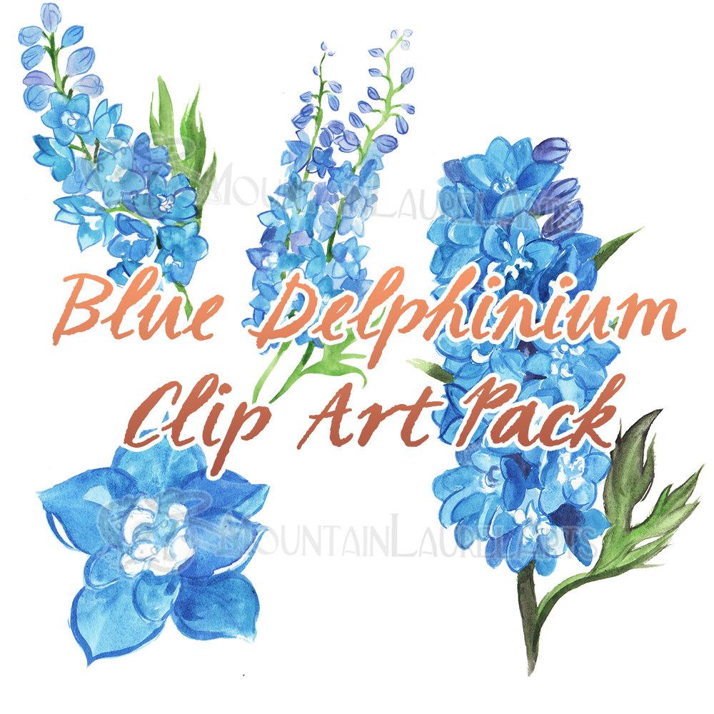 1000x1000 Blue Flower Clip Art