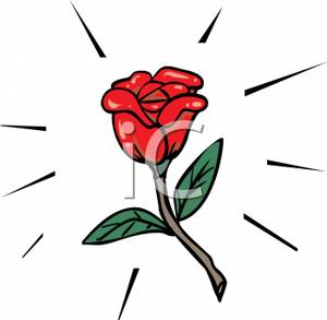 300x293 Clip Art Image A Red Rose