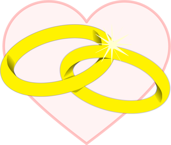 600x509 Linked Wedding Rings Clipart Clipart Panda