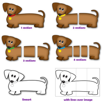 350x350 Dog Clip Art Dachshund Dog (Wiener Dog Sausage Dog) Tpt