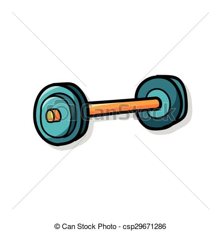450x470 Weightlifting Doodle Vector
