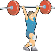 190x175 Woman Lifting Weights Clipart