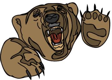 360x259 Free Bear Head Clipart