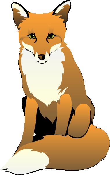 378x598 Fox Clip Art Black And White Fox Sitting Clip Art Foxy Fox