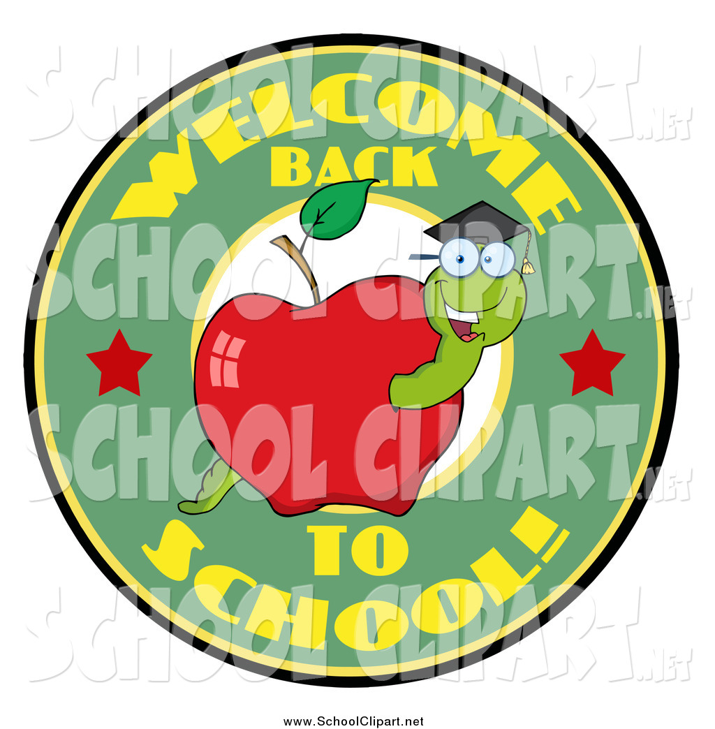 1024x1044 Clip Art Of A Welcome Back To School Text With A Worm In An Apple
