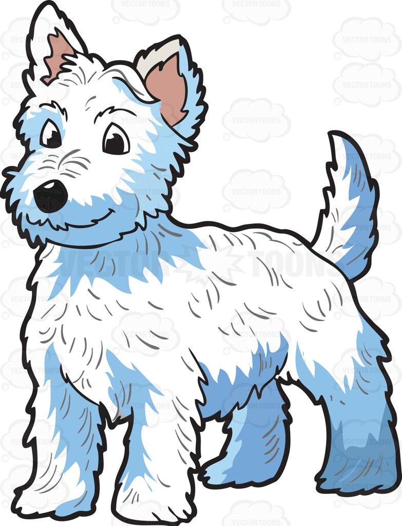 783x1024 A Very Adorable West Highland Terrier Cartoon Clipart Vector Toons
