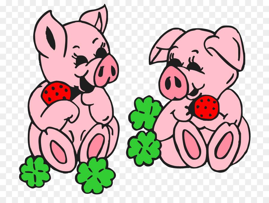 900x680 Domestic Pig Cartoon Clip Art