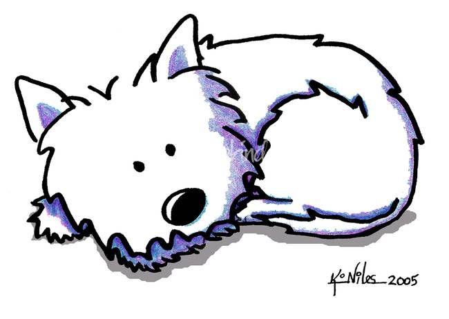 650x462 Kim Niles Drawingsillustrations Westies